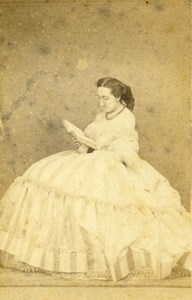 France Nancy Baronne de Beauchamp Old CDV Chatelain Photo 1862
