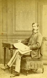 France Paris Vicomte Albert de Charne Old CDV Reutlinger Photo 1865