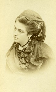 France Paris Actress Gabrielle de la Perrine Old CDV Reutlinger Photo 1870