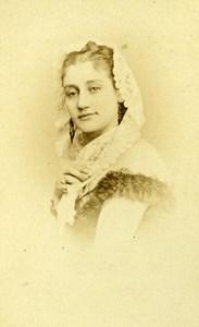 France Paris Actress Malvina Brache Old CDV Reutlinger Photo 1870