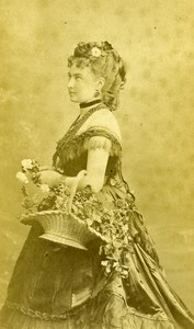 France Paris Actress Berthe Girardin Old CDV Reutlinger Photo 1870