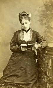 France Paris Actress Miss Lefebvre Old CDV Reutlinger Photo 1870