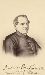 Cardinal Giacomo Antonelli, Italy, old CDV Photo 1865'