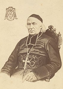 Bishop of Perpignan , France, old CDV Photo 1865'