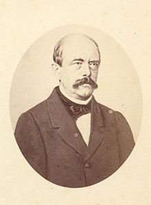 Count Otto Von Bismarck, Germany, old CDV Photo 1865'