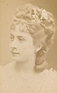 Blanche Baretta, actress, France, old CDV Photo 1880
