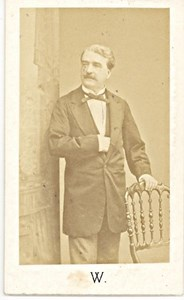 B. Millout Cherblanc France Signed old CDV Photo 1873