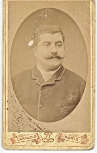 M. Melie, Baryton Opera, France, old CDV Photo 1880'