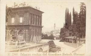 Italy Firenze Palace Garden Boboli old Photo CDV 1870'