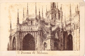 Italy Milano Il Duomo Cathedral old Photo CDV 1870'