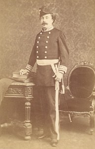 Niort France Military Uniform Old CDV Photo 1880'