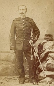Alais France Military Uniforme Old CDV Photo 1880'