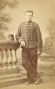 Chalons France Military Uniforme Old CDV Photo 1880'