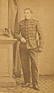 Brest France Military Uniform Old CDV Photo 1880'