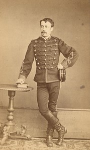 Rodez Military Officer Uniforme Old CDV Photo 1880'