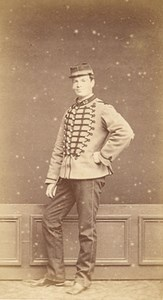 Loches France Military Uniform Old CDV Photo 1880'