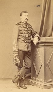 Vernon France Military Uniform Old CDV Photo 1880'