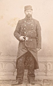Lisieux France Military Uniform Old CDV Photo 1880'
