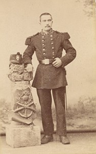 Equeudreville France Military Uniform CDV Photo 1880'