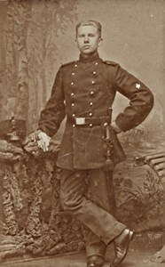 Amersfoort Netherlands Military Uniform CDV Photo 1880'
