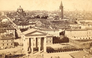 Italy Milan City Panorama Milano Old Brogi CDV Photo 1867