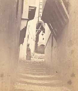 Old Street Kasbah Alger Algeria Old Alary et Geiser CDV Photo 1875'