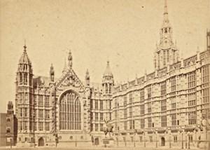 Parliament House London England old LSC CDV Photo 1870