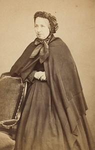 Fashion Second Empire Woman France Old CDV Photo 1865
