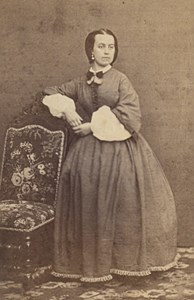 Fashion Second Empire Woman France Auch CDV Photo 1865