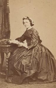 Fashion Woman Saint Etienne France Old CDV Photo 1865