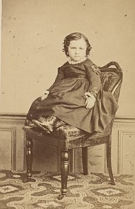 Baby seated Fashion France Old Cremiere CDV Photo 1865