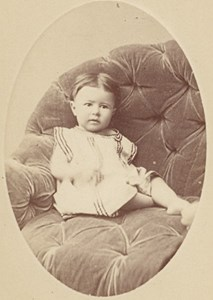 Baby seated Fashion France Old Penabert CDV Photo 1865