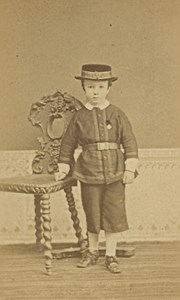 Young Boy Medal Fashion Laval France Old CDV Photo 1865