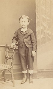 Young Boy Costume Fashion France Old CDV Photo 1865
