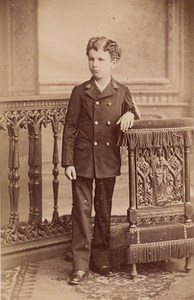 Young Boy Communion Fashion France Old CDV Photo 1885