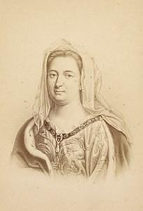Madame de Maintenon French Historic Neurdein CDV Photo 1875