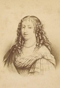Madame de Sevigné French Historic Neurdein Old CDV Photo 1875