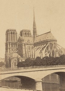 Notre Dame Church Paris Second Empire CDV Photo 1867
