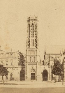 Saint Germain Tower Paris Second Empire CDV Photo 1867