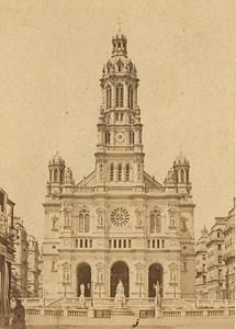 Trinite Church Paris Second Empire old CDV Photo 1867