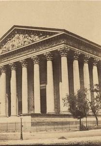 Madeleine Church Paris Second Empire old CDV Photo 1867