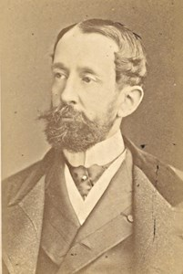 de Saint Vallier French Politician old CDV Photo 1870