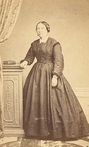 Le Havre Woman Fashion Second Empire CDV Photo 1865