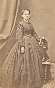 Bordeaux Woman Fashion Second Empire CDV Photo 1865