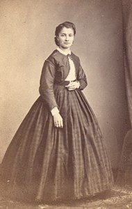 France Woman Fashion Second Empire CDV Photo 1865