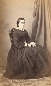 France Woman Fashion Second Empire CDV Photo 1865