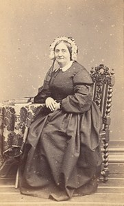 Hyere France Woman Fashion Second Empire CDV Photo 1865