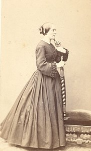 Nancy France Woman Fashion Second Empire CDV Photo 1865