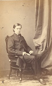 France Man Fashion Second Empire CDV Photo Winter 1865
