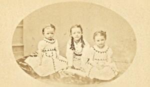 France Children Fashion Second Empire CDV Photo 1875